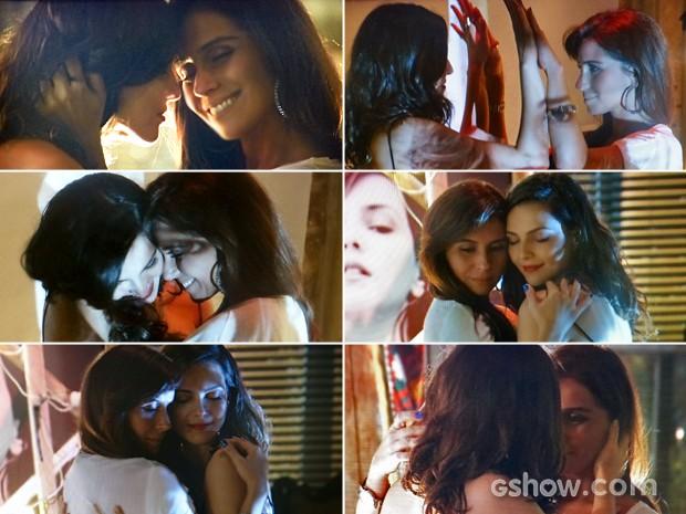 Clara relembra momento em que dançou música romântica com Marina (Foto: Em Família/ TV Globo)