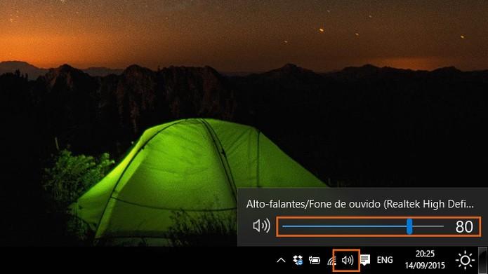 Aumente o volume do áudio no computador com Windows 10 (Foto: Reprodução/Barbara Mannara)