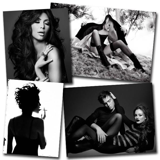 Cameron Diaz, Angelina Jolie, Leighton Meester e Ed Westwick e Kim Kardashian fotografados por Davis Factor – e com make Smashbox (Foto: Davis Factor)