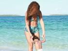 Beyoncé curte férias com a pequena Blue Ivy nas Bahamas