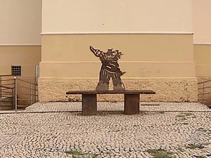 Escultura Uberlândia (Foto: Reprodução/TV Integração)