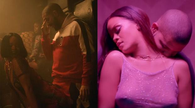 Rihanna e Drake (Foto: reproduo)