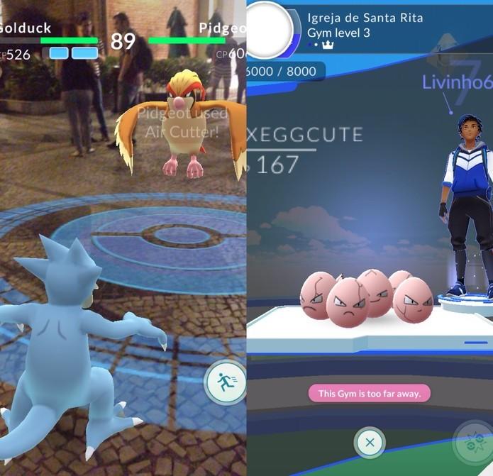 Pokémon Go recebe melhoria para treinos em Ginásio (Foto: Reprodução/Felipe Vinha) (Foto: Pokémon Go recebe melhoria para treinos em Ginásio (Foto: Reprodução/Felipe Vinha))