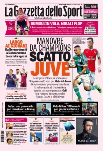 Gabriel Jesus capa Gazzetta dello Sport (Foto: Reprodução / Twitter)