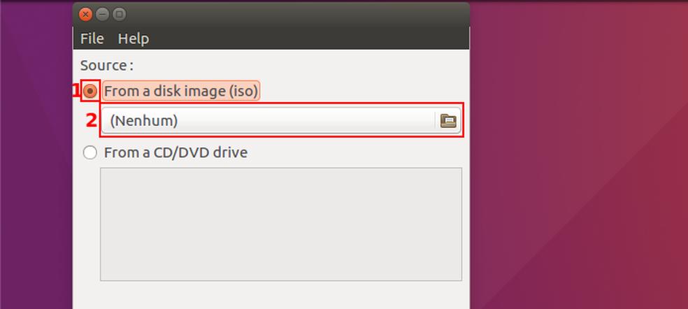 Iniciando a busca pela imagem ISO (ou CD/DVD) do Windows (Foto: Edivaldo Brito/TechTudo)