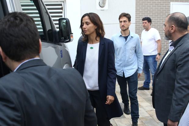 Velório Domingos Montagner - Camila Pitanga (Foto: Thiago Duran/ Ag. News)