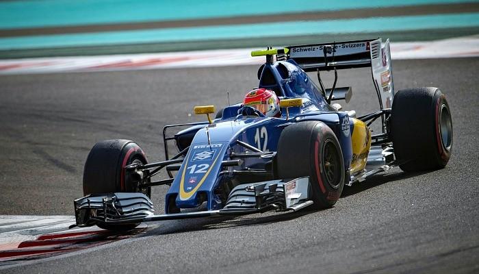 Felipe Nasr no treino para o GP de Abu Dhabi