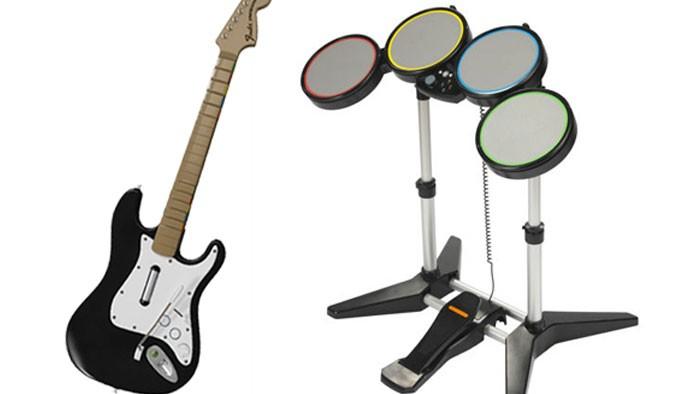 Instrumentos de Rock Band e outros (Foto: Divulgação)