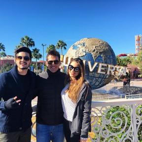 Luan e Bruna Santana viajam para Disney (Foto: Instagram / Reprodução)
