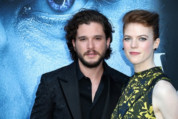 O ator Kit Harington e a atriz Rose Leslie (Foto: Getty Images)