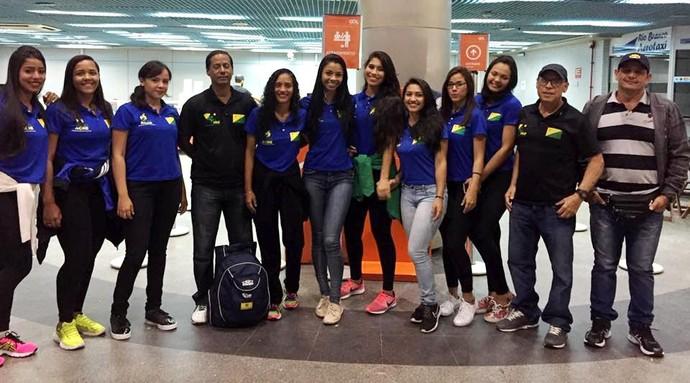 Seleção acreana de vôlei feminino sub-19 (Foto: Feav/Divulgação)
