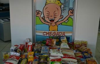 Alimentos arrecadados na inscrição da Corrida do Reizinho são doados