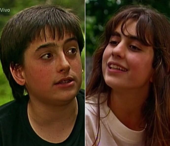 Rodrigo Penna e Carol Machado viveram um casal em Top Model, em 1989 (Foto: TV Globo)