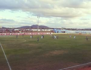 Santa Cruz-RN e Palmeira se enfrentam na abertura do Campeonato Potiguar 2013 (Foto: Antonio Netto/Inter TV Cabugi)