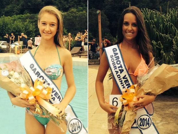 Juliana Andres, 16 anos, e Maíne Serena Pasa, 16, foram as  vencedoras (Foto: Montagem sobre fotos de Natália Machado/Divulgação)