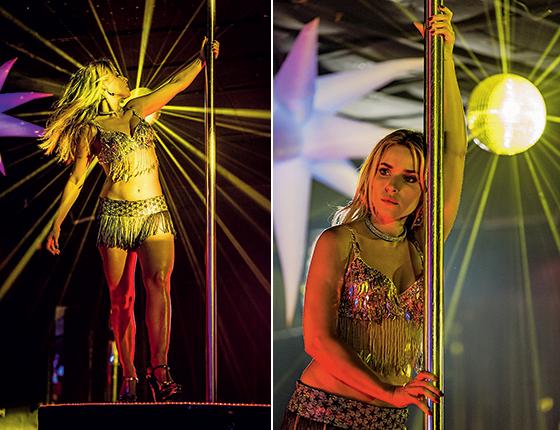 Despida de pudores, Monique Alfradique promete incendiar o cinema em 2018 como Nina, uma prostituta que trabalha como stripper em um cassino clandestino, no longa 'Virando a mesa' (Foto: Wallace Nogueira)
