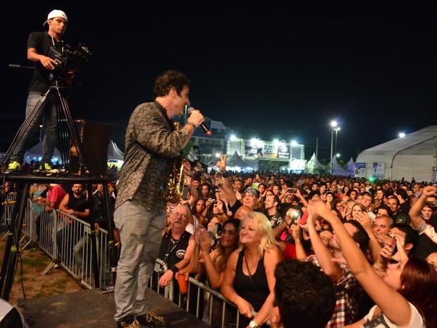 George Israel, do Kid Abelha, levantou a plateia do Ostrascycle (Foto: Mauricio Rocha / Divulgação)