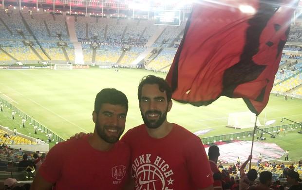 Gege e Benite Flamengo e Bahia  (Foto: Gabriel Fricke)