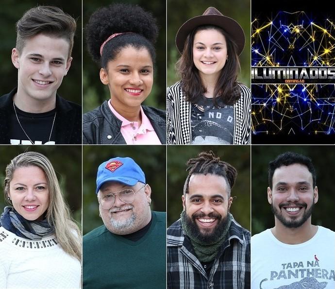 Participantes que estarão na terceira semana do 'Iluminados' (Foto: Carol Caminha/Gshow)