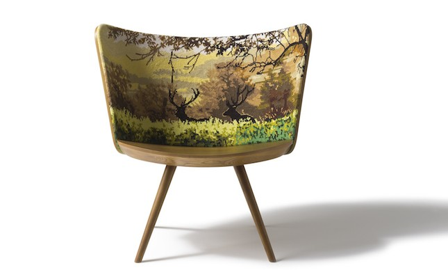 Cappellini, cadeira Embroidery