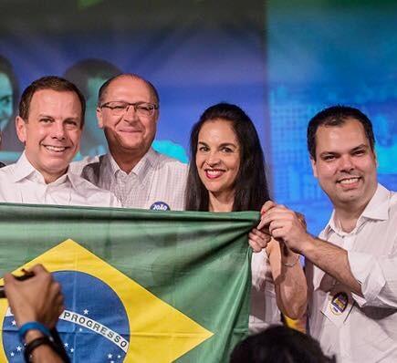 Geraldo Alckmin apoiou Doria em SP (Foto: Reprodução/Facebook/PSDB)