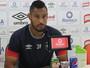 """Bruno Aguiar comemora fase artilheira no JEC e diz: """"Faltando um gol de falta"""""""