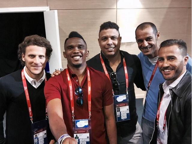Eto'o, Forlán, Ronaldo, Cannavaro