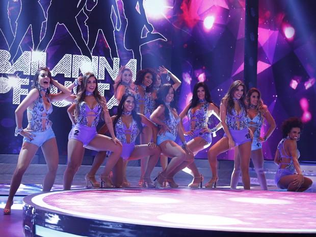 As participantes do grupo da Luiza Módolo se apresentaram neste domingo (14/06) (Foto: Raphael Dias/Gshow)