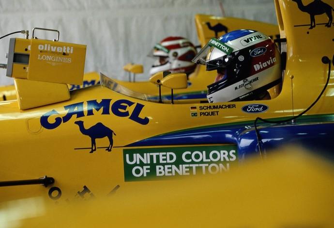 Michael Schumacher foi companheiro de Nelson Piquet na Benetton em 1991 (Foto: Getty Images)