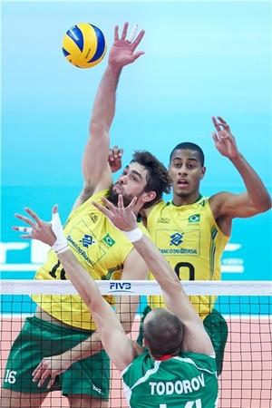 Brasil X Bulgária vôlei (Foto: Divulgação/FIVB)