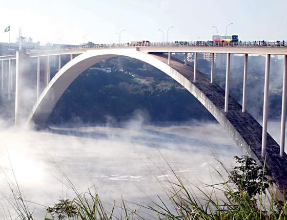 Ponte da Amizade, na fronteira do Brasil com o Paraguai (Foto: Christian Rizzi/Gazeta Do Povo)