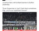 """Torcida do Juve apoia Buffon: """"Às vezes, até o Super-Homem é somente Clark Kent"""""""