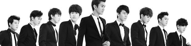 Os nove integrantes do Super Junior, banda de Kpop que canta em São Paulo (Foto: Divulgação)