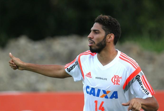 Wallace, Ninho do Urubu, treino, Flamengo (Foto: Gilvan de Souza/ Fla Imagem)