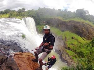 Maurício Vieira alpinista paraquedista esportes de aventuras uberaba salto rio de janeiro 2 (Foto: Paijo / Arquivo Pessoal)