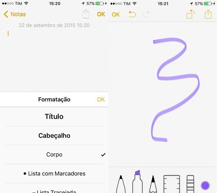 O Notas do iPhone está totalmente reformulado (Foto: Reprodução/Juliana Pixinine)