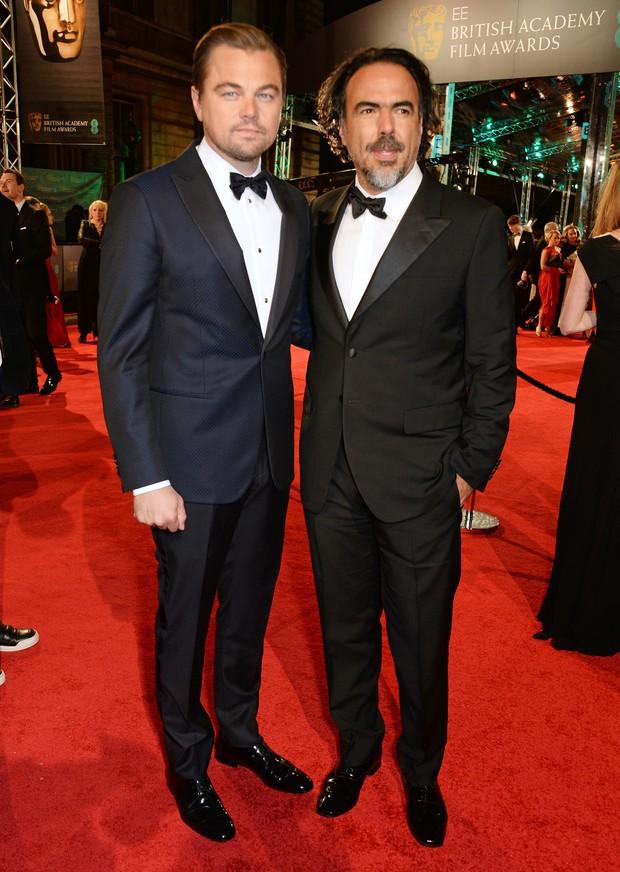 Leonardo DiCaprio e Alejandro Gonzalez no BAFTA (Foto: Getty Images)