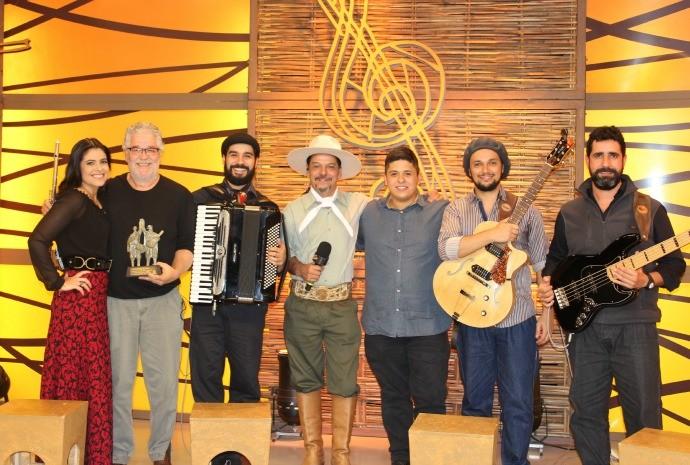 Texo Cabral no Galpão Crioulo (Foto: Nice Sordi/RBS TV)