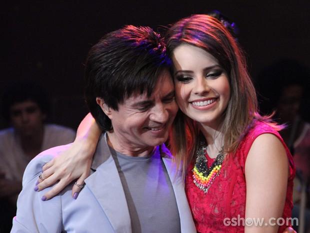 Em 2012, Xororó canta com a filha Sandy no programa Altas Horas (Foto: TV Globo/Altas Horas)