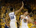 Sem Curry, Thompson leva Warriors a abrirem 2 a 0 sobre o Houston Rockets