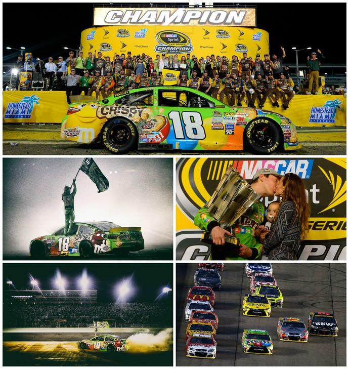 Kyle Busch comemora título inédito da Nascar (Foto: Getty Images)