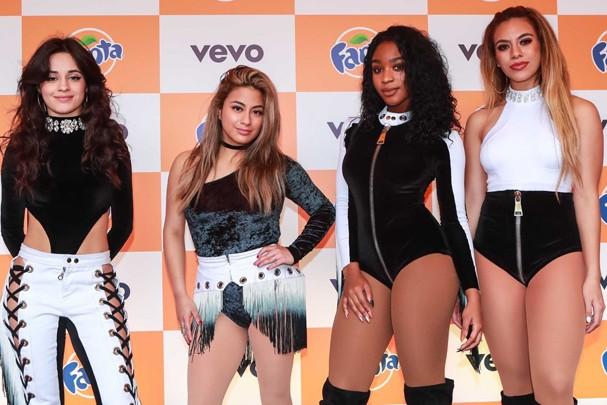 Fifth Harmony chega a SP sem Lauren Jauregui, detida por porte de maconha (Foto: Raphael Castello/ AgNews)