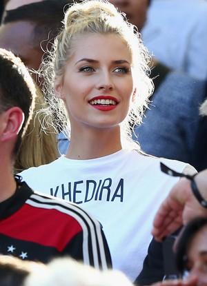Lena Gercke, namorada Khedira Alemanha x Argentina final, Copa do Mundo (Foto: Getty Images)