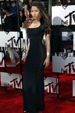 Nicki Minaj no MTV Movie Awards em Los Angeles, nos Estados Unidos (Foto: Danny Moloshok/ Reuters)