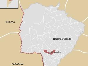 Região de MS que fica na fronteira com o Paraguai (Foto: Thiago Fontoura/ G1 MS)