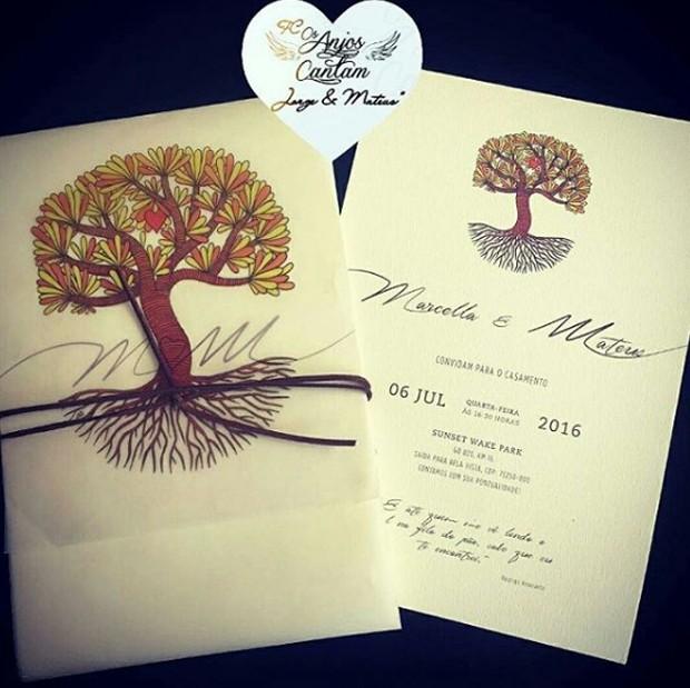 Convite do casamento de Mateus e Marcelle (Foto: Reprodução)