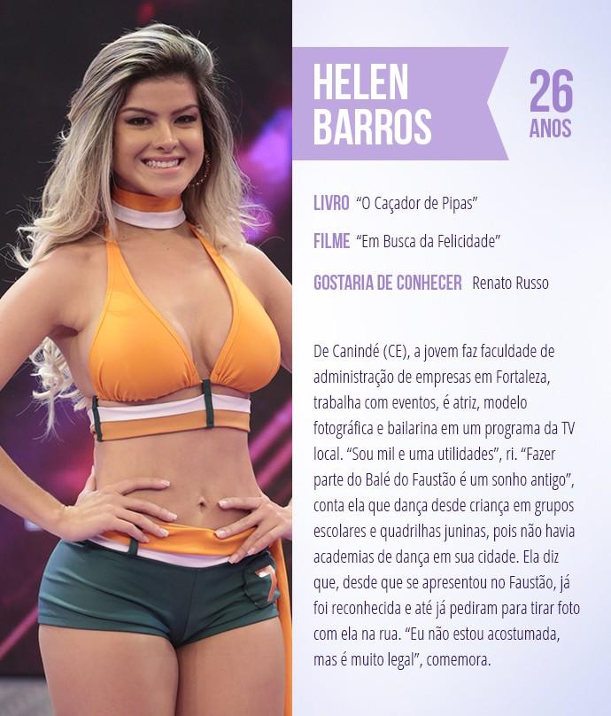 Saiba mais sobre Helen Barros (Foto: Arte: Thays Malcher)