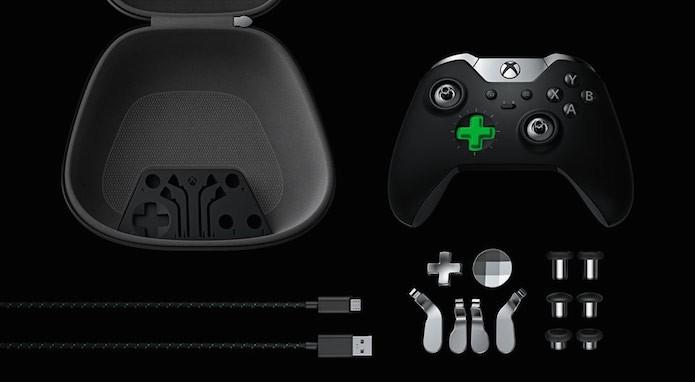 Xbox Elite: todos os acessórios do joystick (Foto: Divulgação/Microsoft)
