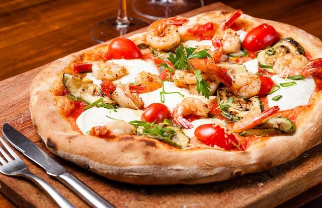 Pizza de camarão (Foto: Divulgação)