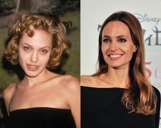 A atriz estava com 23 aninhos em foto de 1998. Hoje em dia, Jolie tem seis filhos e 39 anos. (Foto: Getty Images)